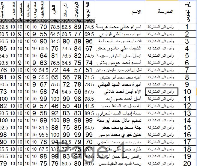 محافظة دمياط تحميل نتيجة الصف السادس الابتدائى الترم الأول